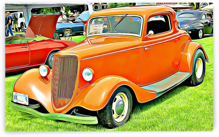 hot rod classic car  by MIRIAM
