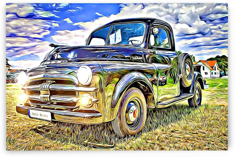 vintage classic car by MIRIAM