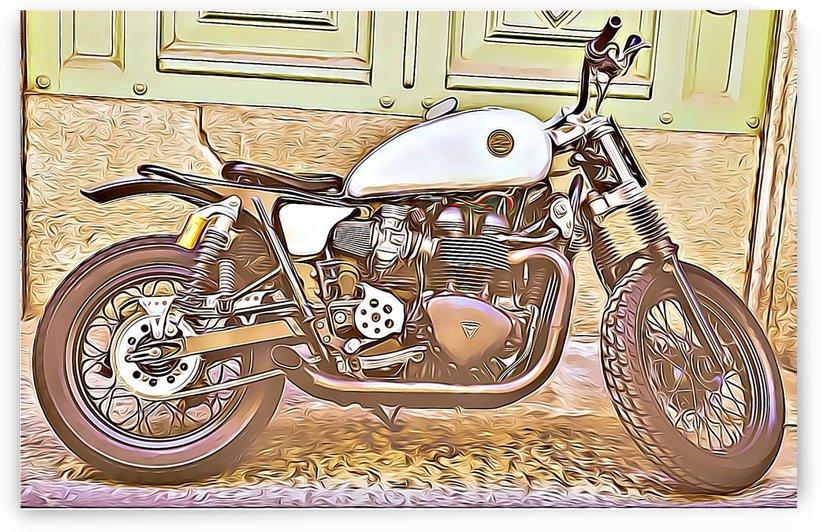 vintage motorcycle by MIRIAM