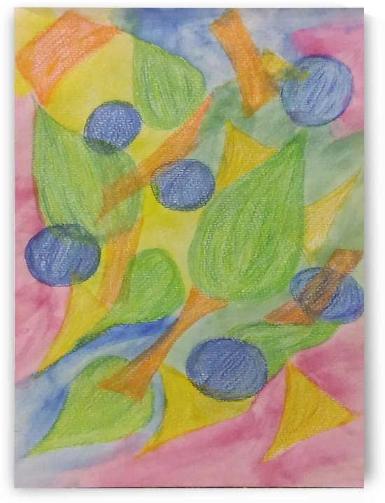 Blueberries Lost in Color by SarahJo Hawes
