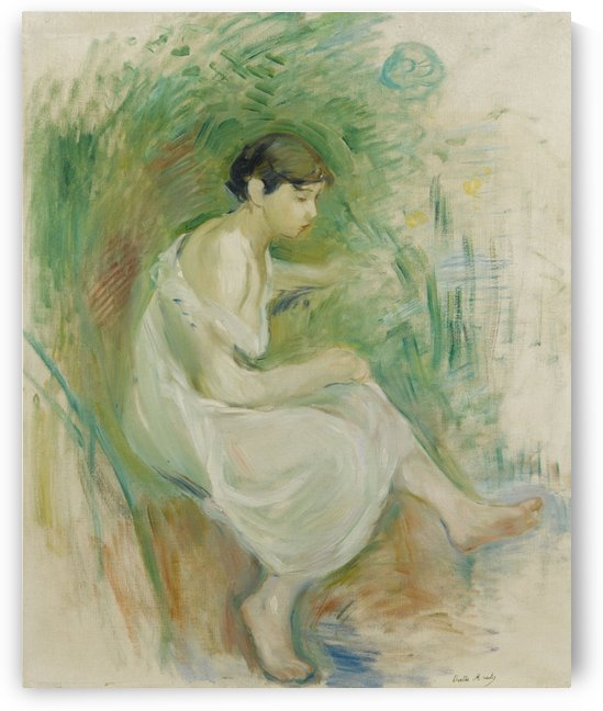 The Bather in Chemise by Berthe Morisot