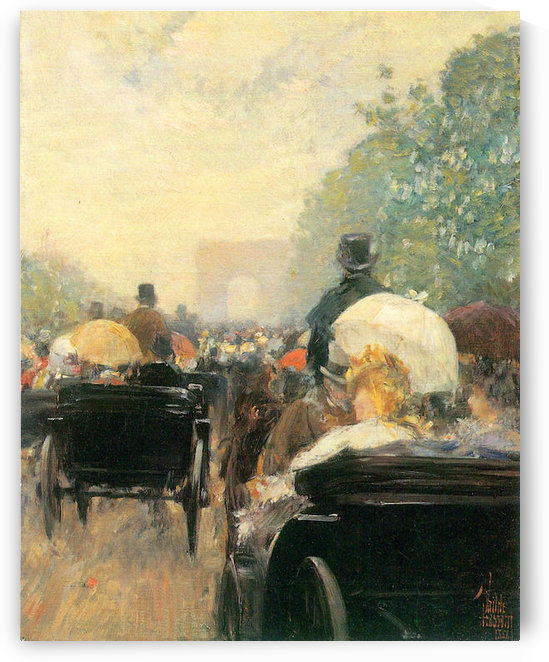 Carriage Parade by Hassam by Hassam