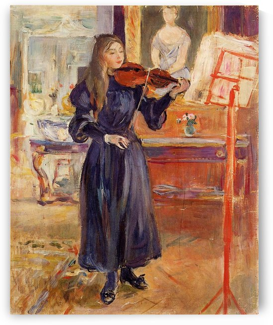 The Violin by Berthe Morisot