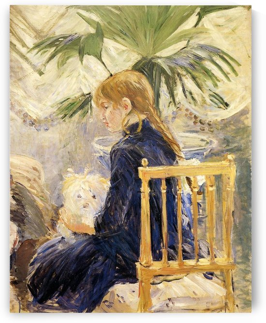 Young Girl with a Dog by Berthe Morisot