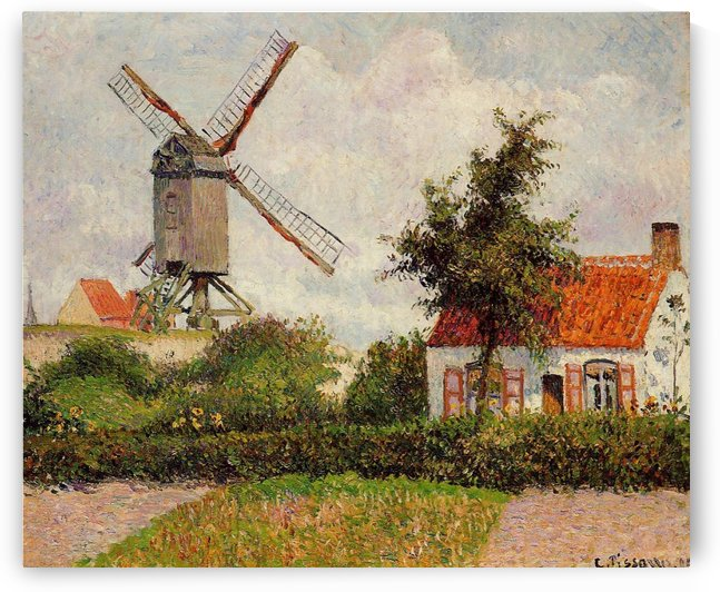 The Windmill at Knokke by Camille Pissarro
