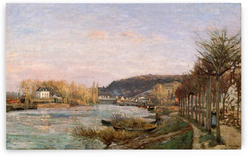 The Siene at Bougival by Camille Pissarro