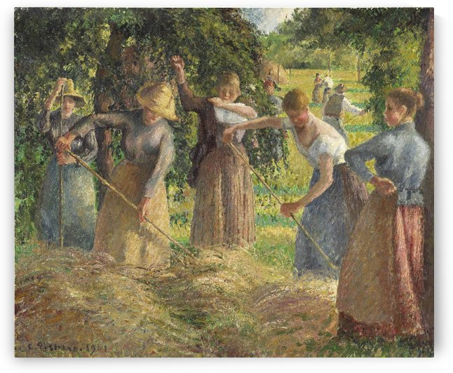Hay Stacking by Camille Pissarro