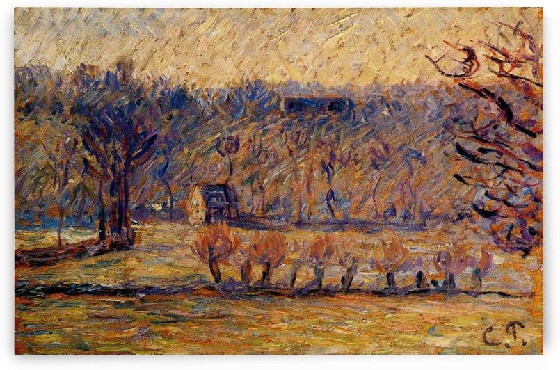 The Esplanade of Bazincourt by Camille Pissarro