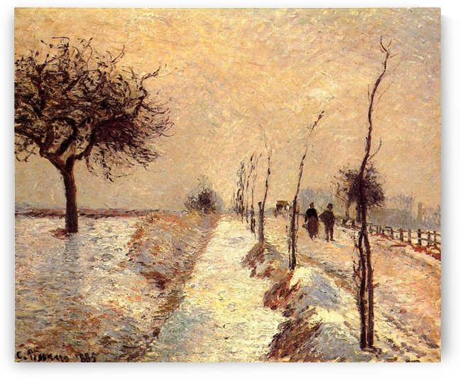 The Road at Eragny by Camille Pissarro
