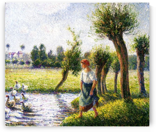 Peasant Woman Digging by Camille Pissarro
