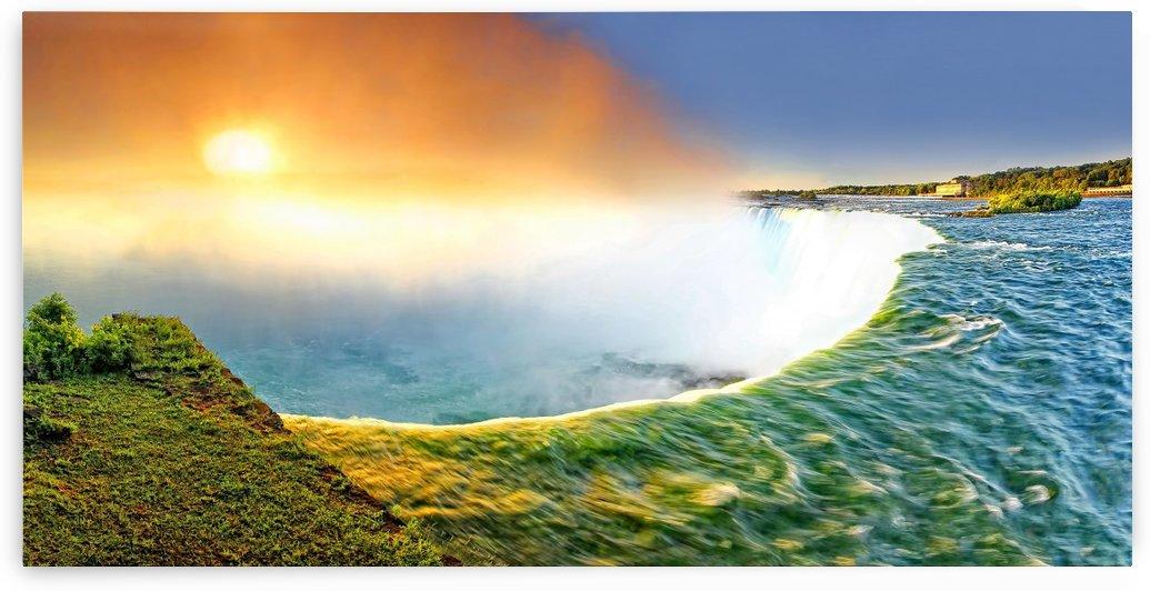Sunrise at Niagara Falls by zoltanduray