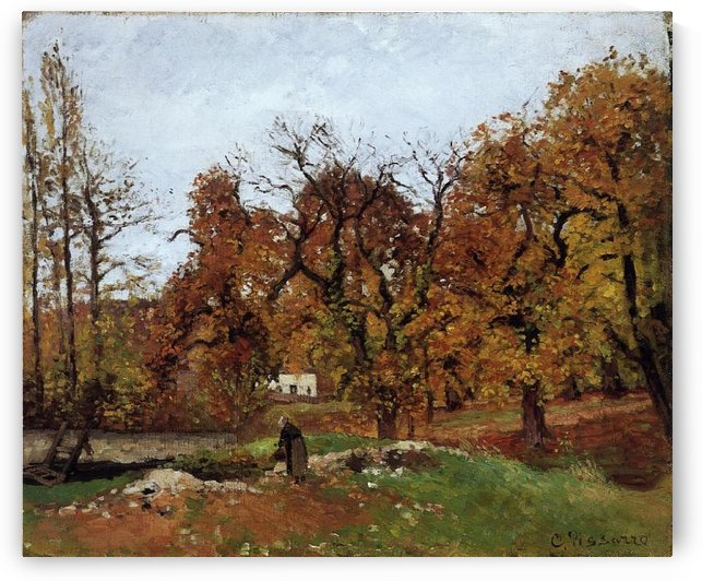 The Houses at Pontoise by Camille Pissarro