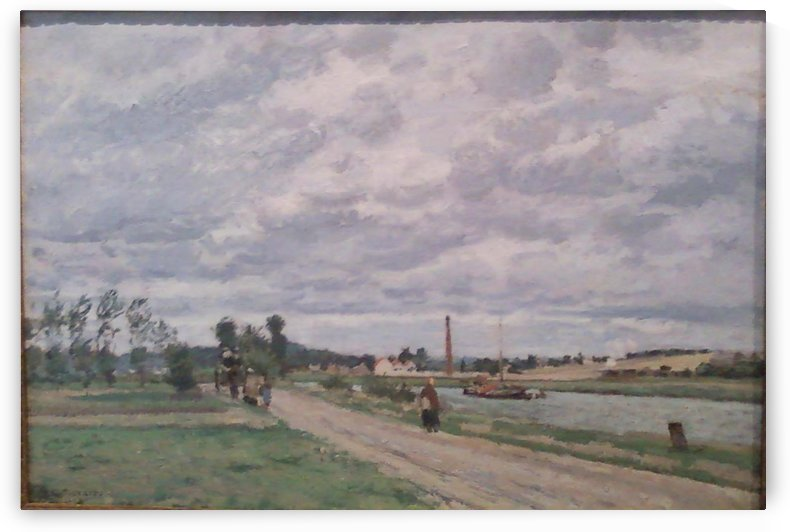 The Banks of the Oise at Pontoise by Camille Pissarro