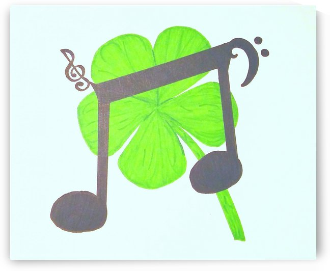 Five Leaf Clover Set In Tunes by SarahJo Hawes