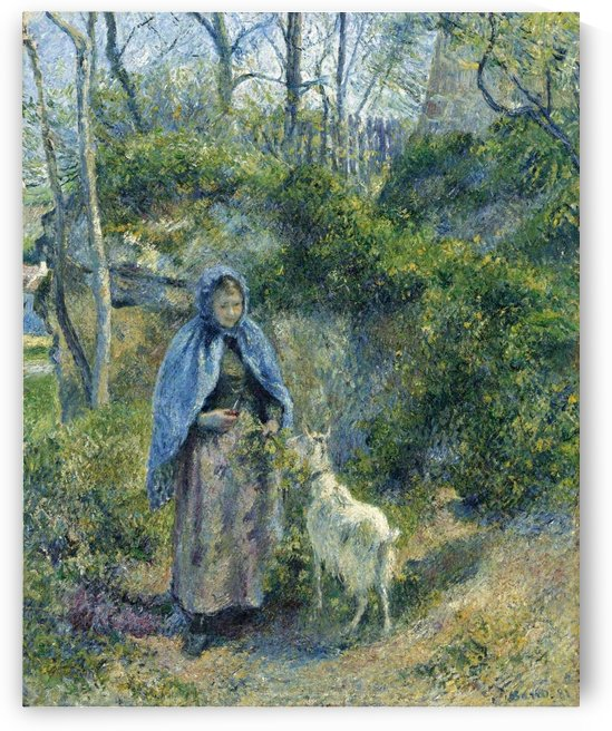 The Shepherdess and the Goat by Camille Pissarro