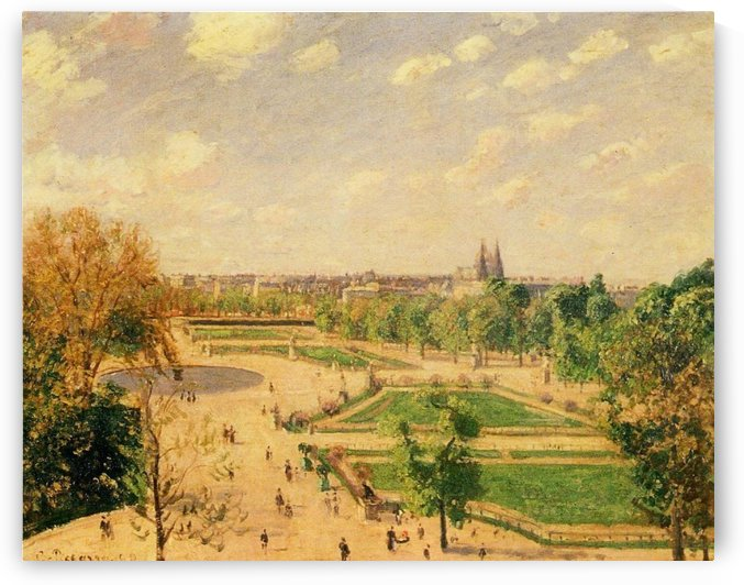 The Garden of Tuileries, Snow Effect by Camille Pissarro