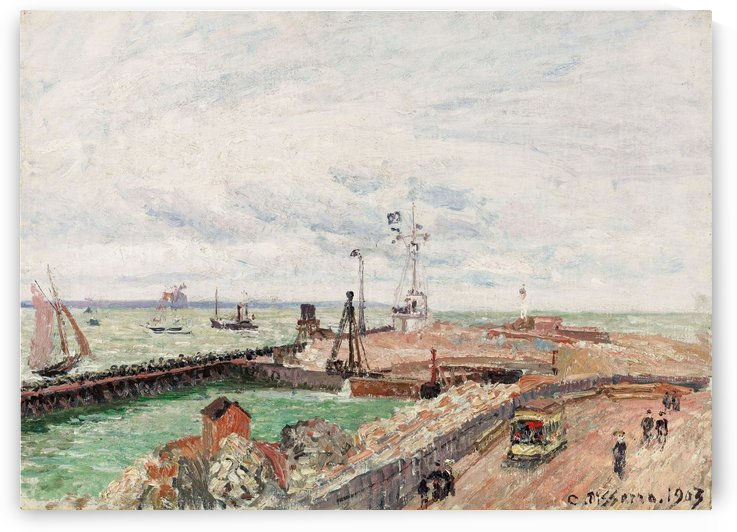 The Pier and the Semaphore of Havre by Camille Pissarro