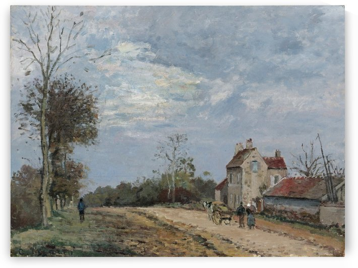 The House of Monsieur Musy, Road of Marly, Louveciennes by Camille Pissarro