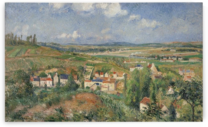 Hermitage in Summer, Pontoise by Camille Pissarro