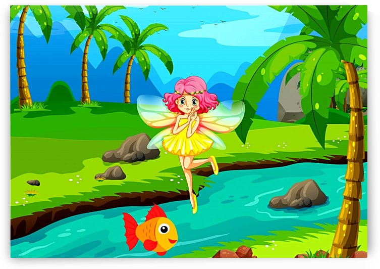 Cute Fairy And Fish Friend by One Simple Gallery