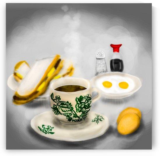 Kopitiam food  Coffee, toasts and eggs by Su Yi