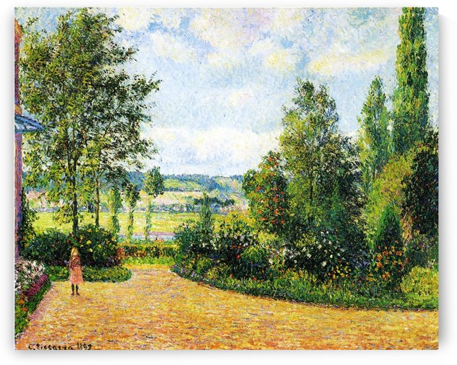 The Valley of the Siene near Damps, the Garden of Octave Mirbeau by Camille Pissarro