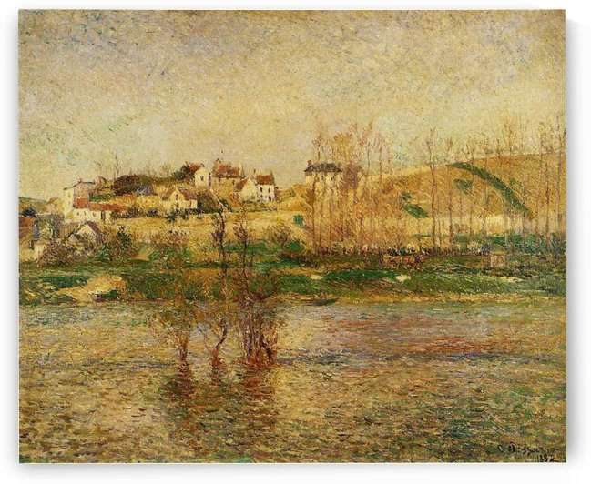 The Flood at Pontoise by Camille Pissarro