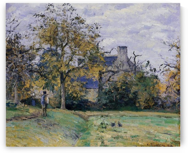 The House of Piette at Montfoucault by Camille Pissarro