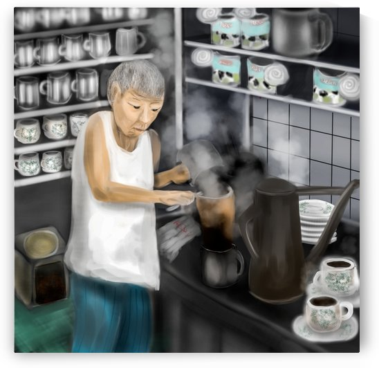 Kopitiam brewing coffee by Su Yi