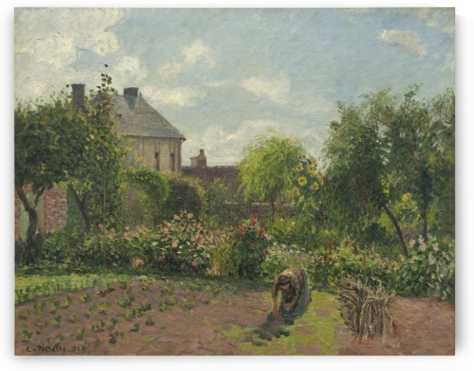 The Garden at Eragny by Camille Pissarro
