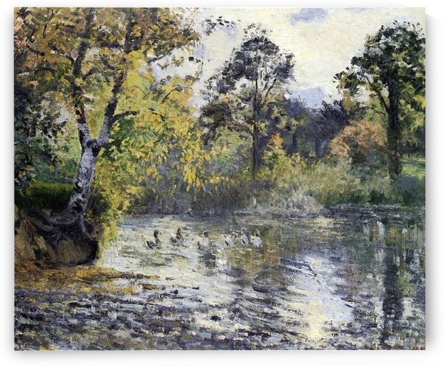 The Pond of Montfoucault by Camille Pissarro