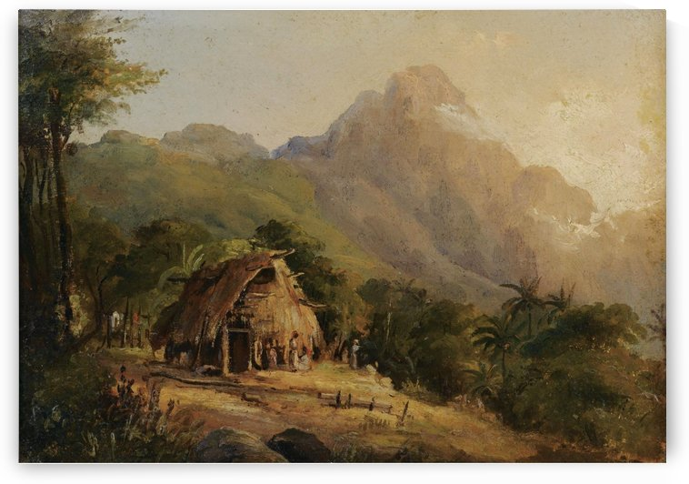 Landscape in Montagne with the Cabin, Galipan by Camille Pissarro