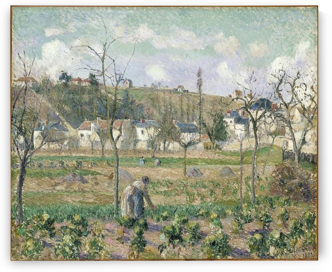 The Garden of Maubuisson, Pontoise, Mother Belette by Camille Pissarro