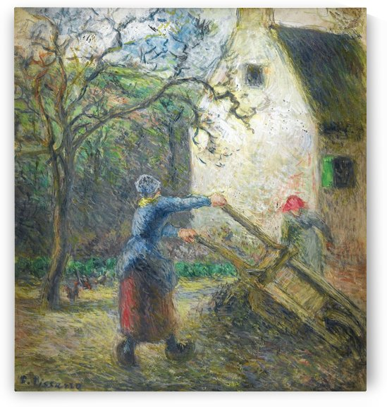 Woman Empting the Hand-Cart by Camille Pissarro