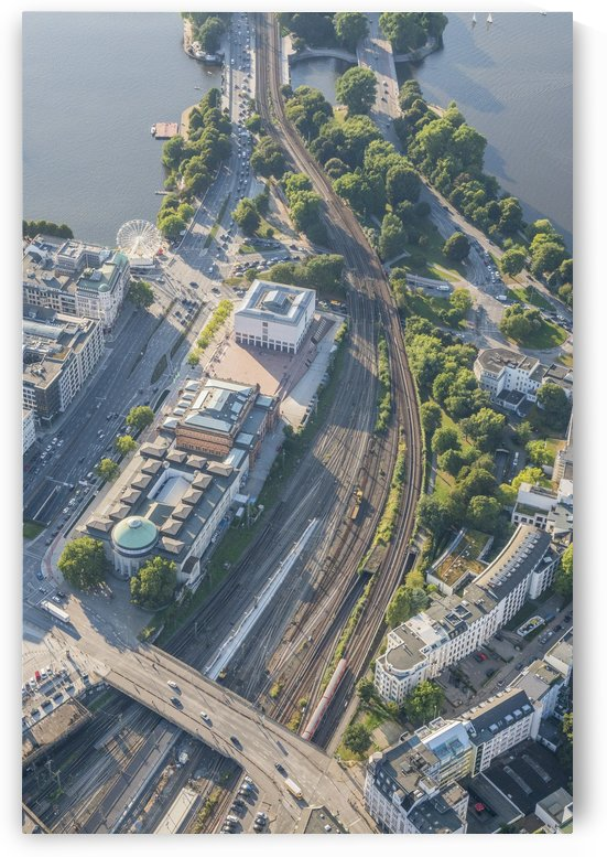Aerial Photo Hamburg Art Gallery by Patrice von Collani