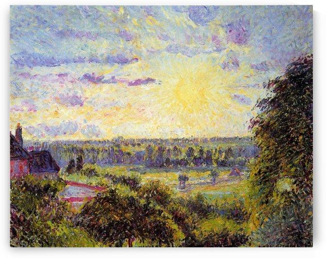 Sunset at Valhermeil, Auvers-sur-Oise by Camille Pissarro