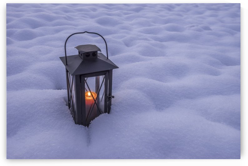 Lantern in the snow by Patrice von Collani