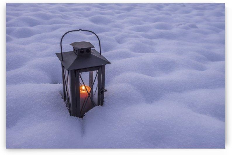 Lantern in the snow by Patrice von Collani