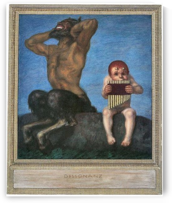 Dissonance by Franz von Stuck by Franz von Stuck