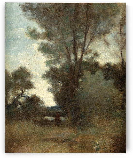 Rider on the Edge of the Wood by Camille Pissarro