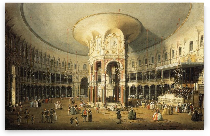 Interior of the Rotunda at Ranelagh by Canaletto