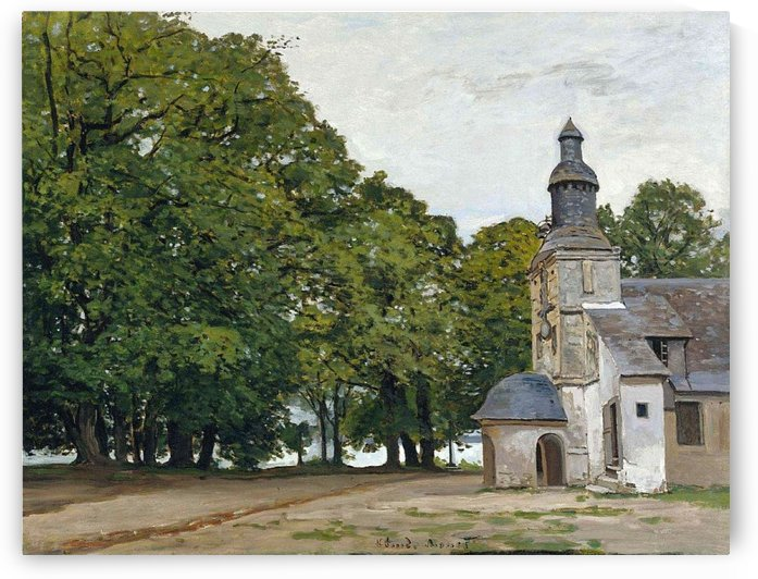 The Chapel of Notre-Dame-de-Grace, Honfleur by Claude Monet