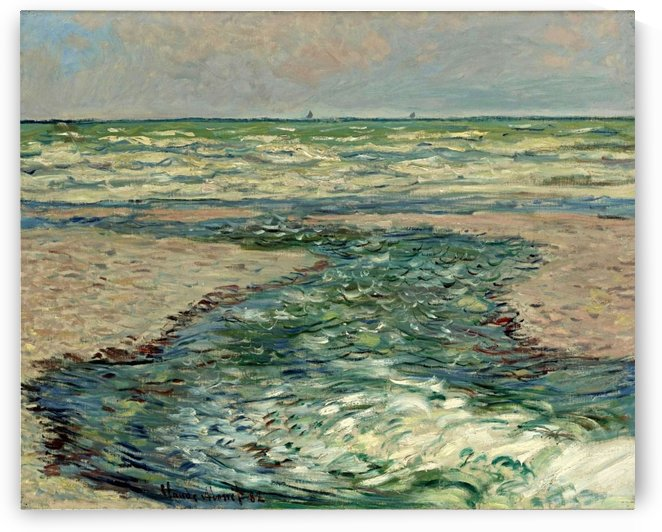 The Seacoast of Pourville, Low Tide by Claude Monet