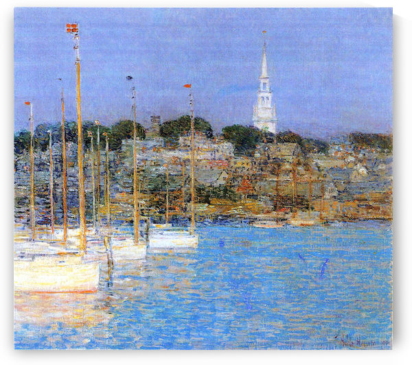 Cat Boats, Newport by Hassam by Hassam