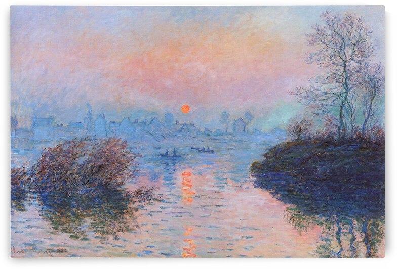 The Winter, near Lavacourt by Claude Monet