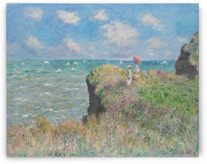 View to the Sea from the Cliffs by Claude Monet