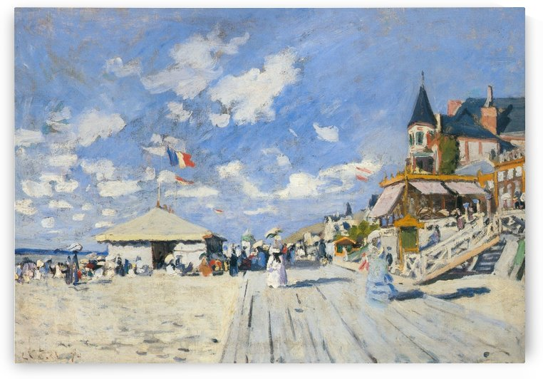 The Sandbeach at Trouville by Claude Monet