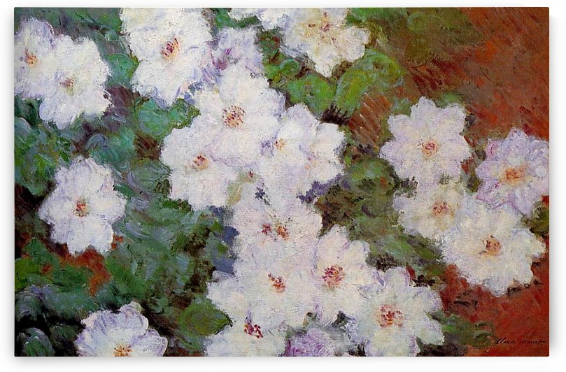 Clematises by Claude Monet