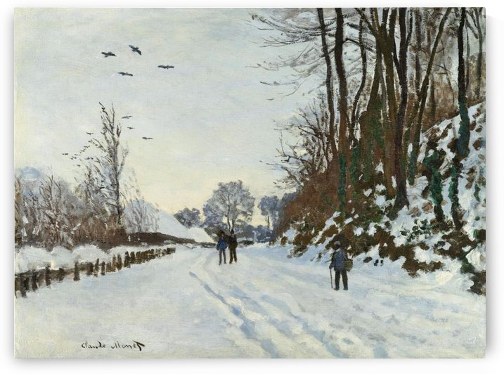 the Road to the Farm Saint-Simeon in Winter by Claude Monet