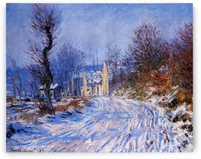 The Road at Giverny in Winter by Claude Monet
